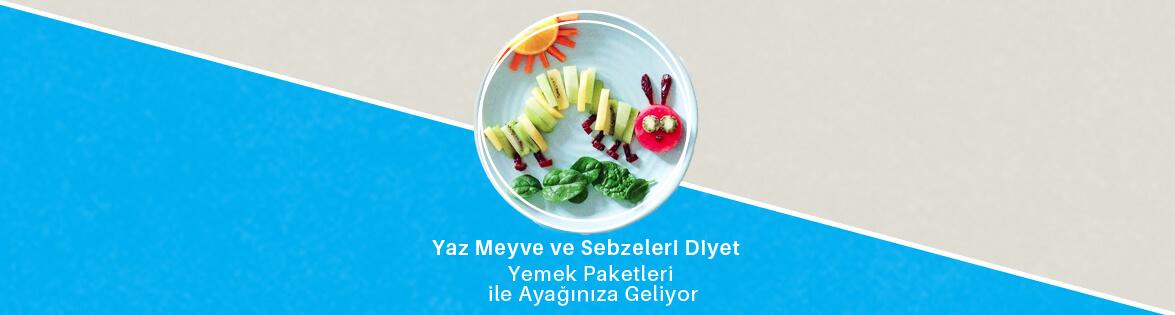 yaz meyve ve sebzeleri diyet yemek paketleri